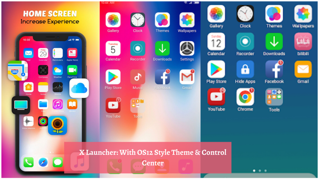 X Launcher With OS12 Style Theme & Control Center